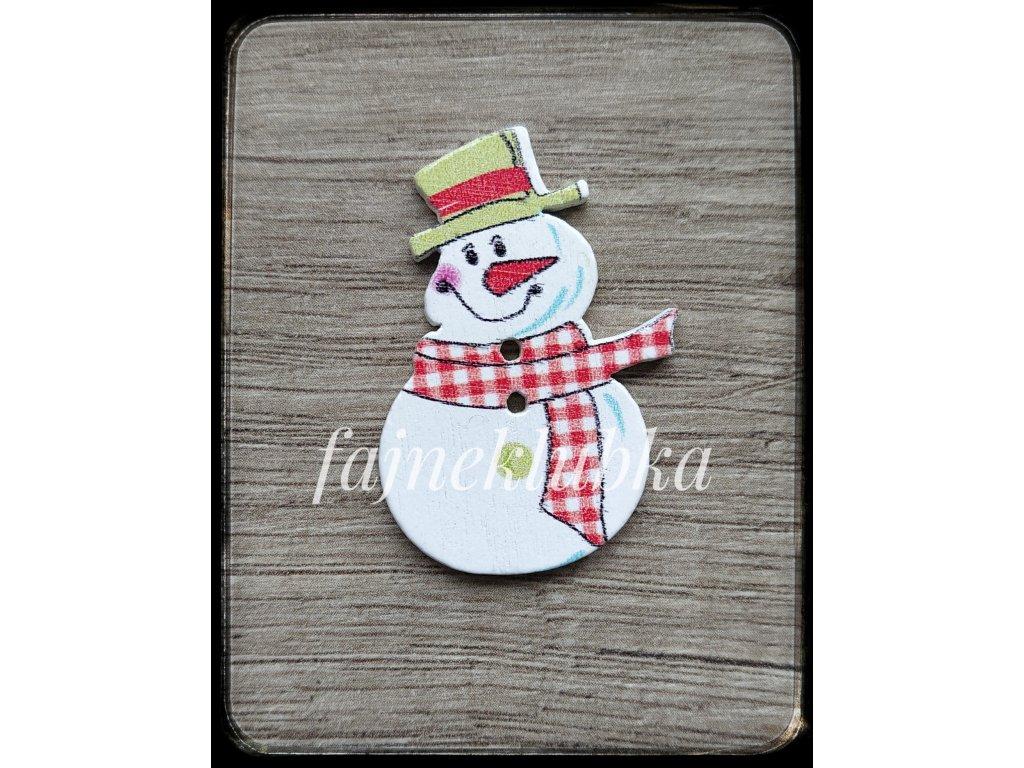 Knoflík sněhuláka pro ozdobu výrobků