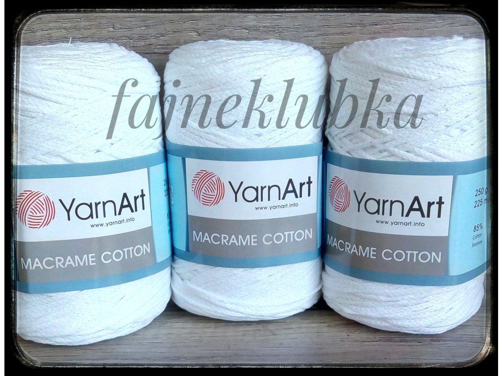 Macrame Cotton 751, 771 Bílá