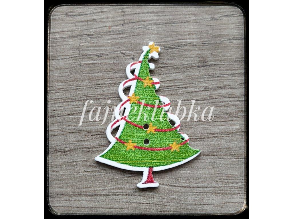 Knoflík vánoční stromeček pro ozdobu výrobků