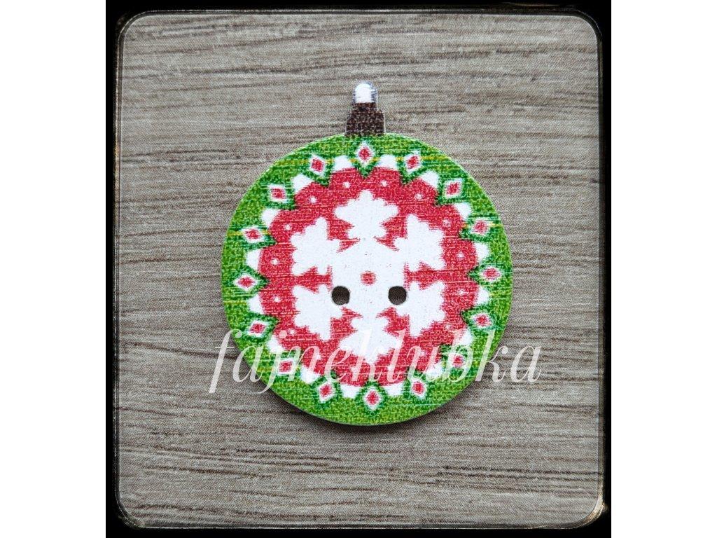 Knoflík vánoční baňky pro ozdobu výrobků