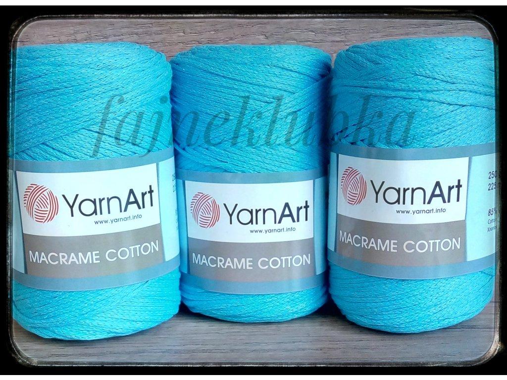 Macrame Cotton 785 Modrá