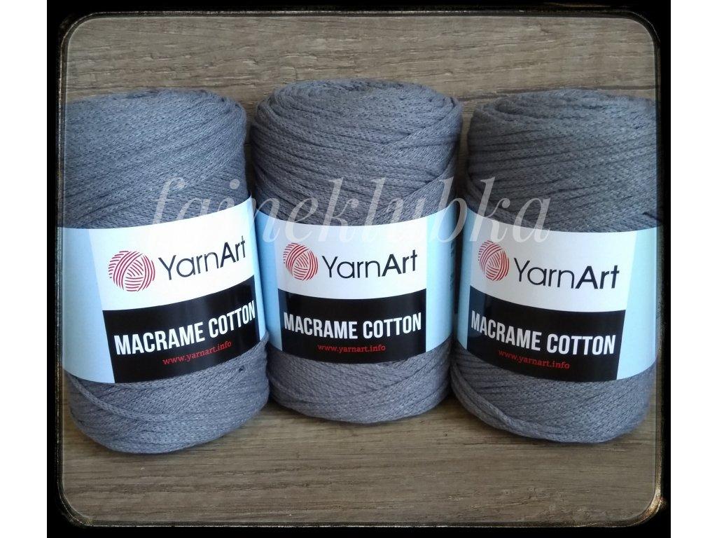 Macrame Cotton 774 Tmavě šedá