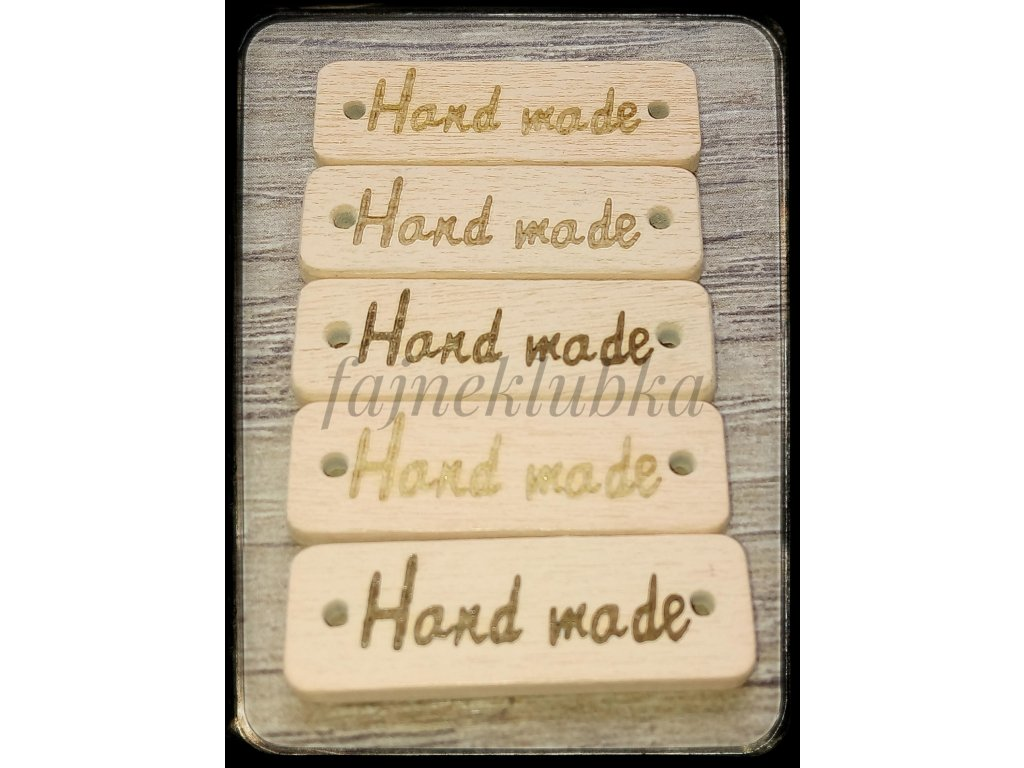 Dřevěný obdélníkový štítek