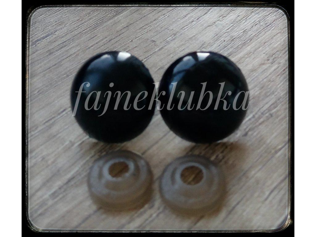 Bezpečnostní oči černé 20 mm