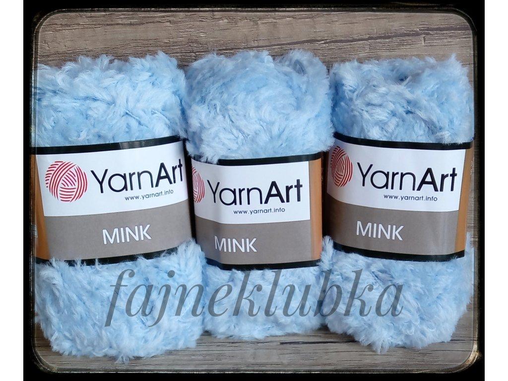 Mink 351 Světle modrá