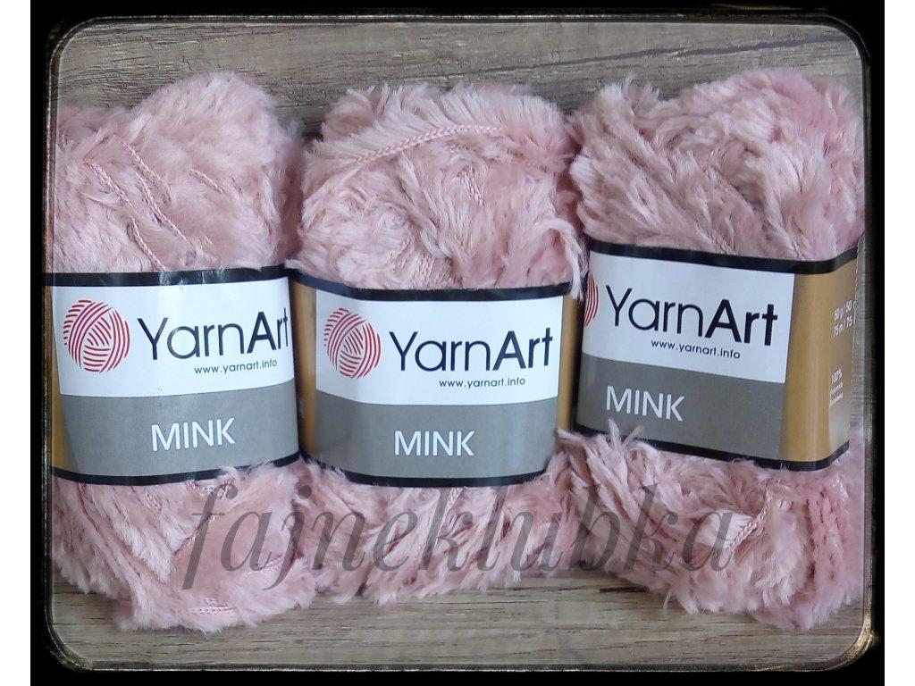 Mink 341 Růžová