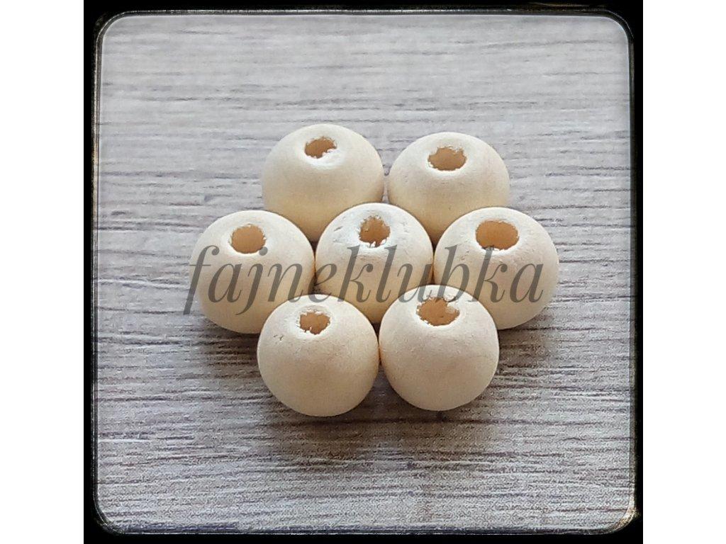 Dřevěné korálky průměr 12 mm