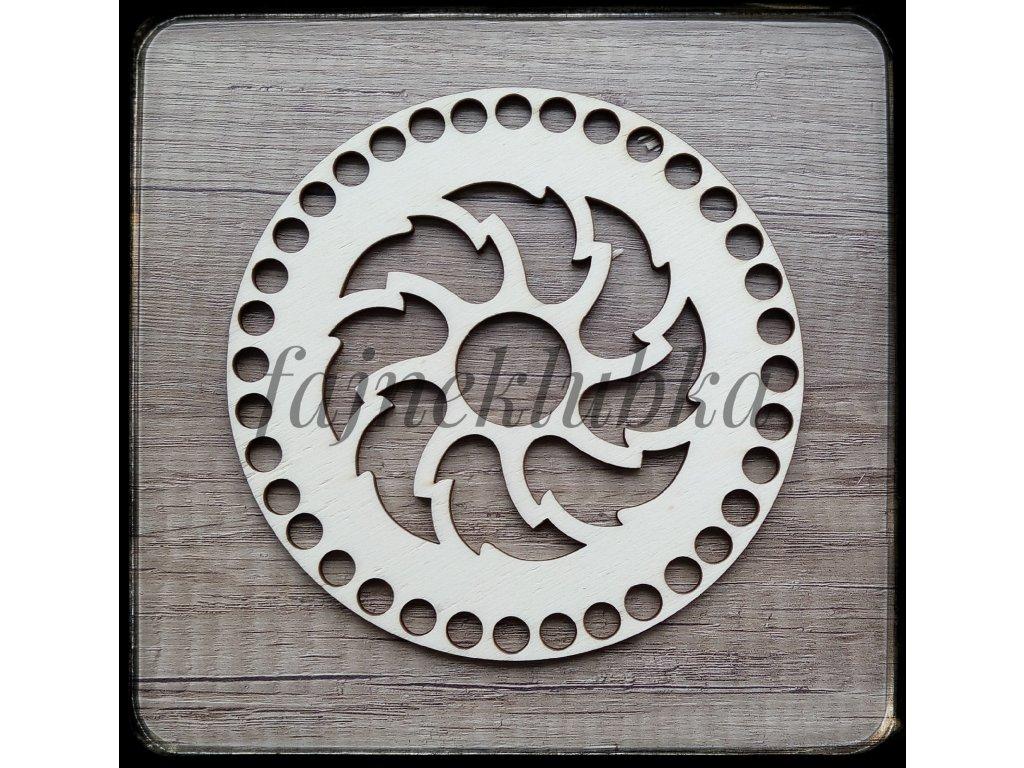 Dřevěné víko 15 cm vzor 2
