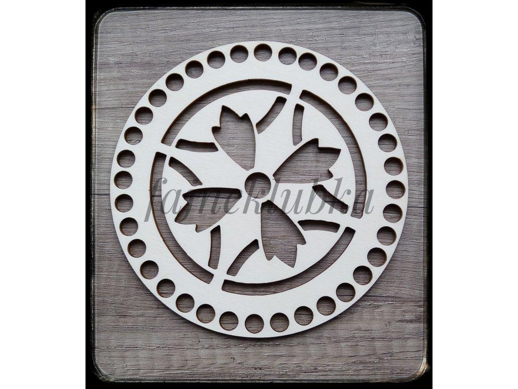 Dřevěné víko 15 cm vzor 3