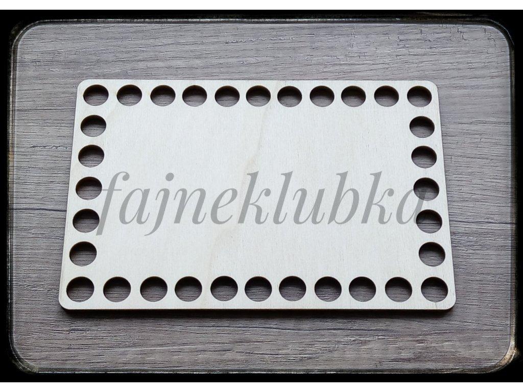 Dřevěné dno obdélník 10 x 15 cm