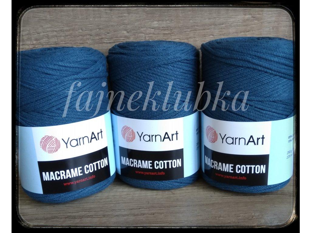 Macrame Cotton 789 Tmavá petrolej