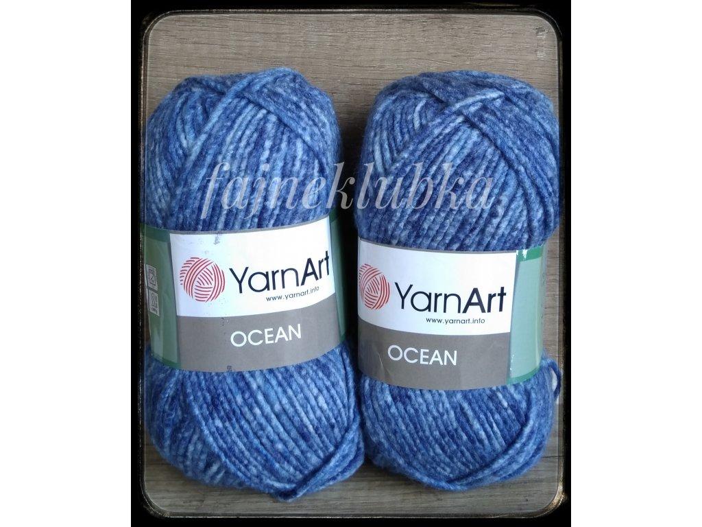 Ocean 112 Tmavě modrý melír