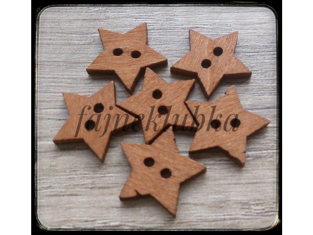 Knoflík  Hvězda 18 mm