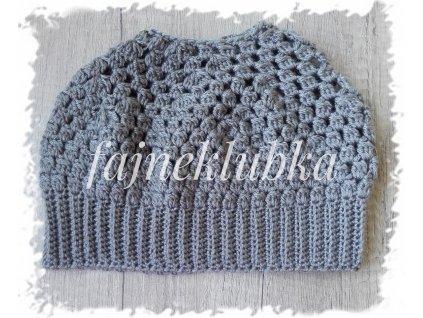 Dámská culíkatá čepice