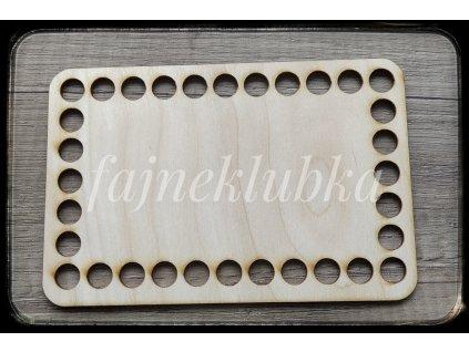 Dřevěné dno obdélník 15 x 10 cm