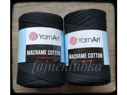 Macrame Cotton 750  Černá