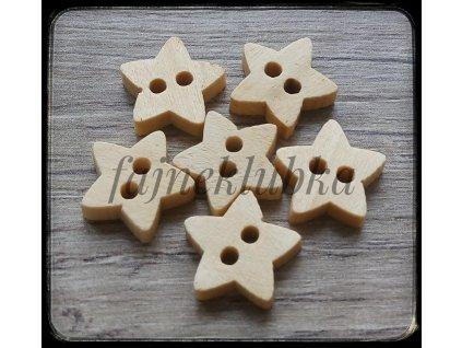 Knoflík Hvězda 16  x 17 mm