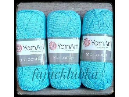 Eco Cotton 765 Tyrkysová
