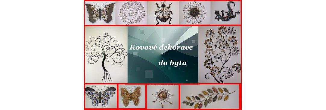 Kovové dekorace