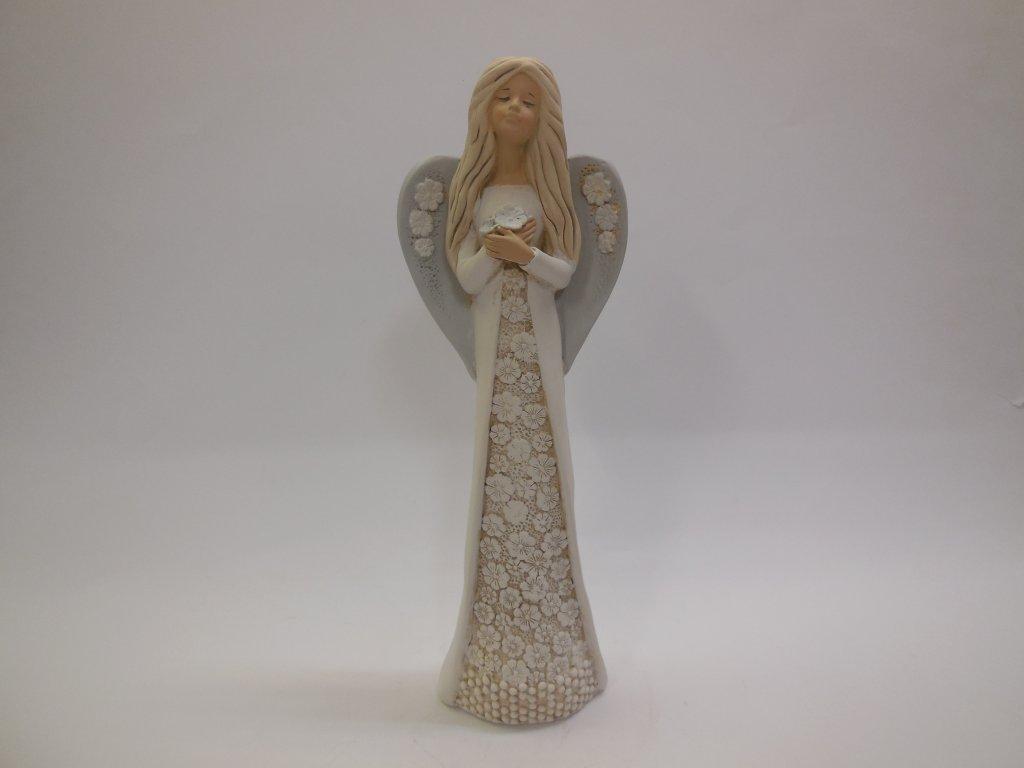 Anděl šaty s krajkou