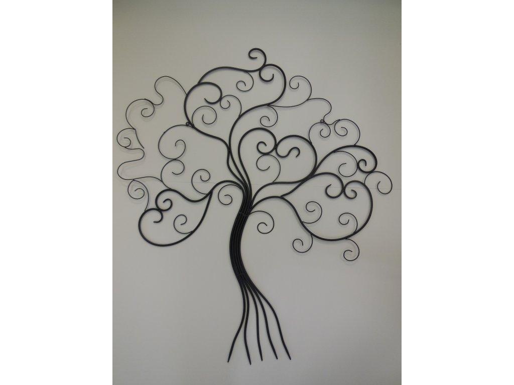 Kovová dekorace strom černý