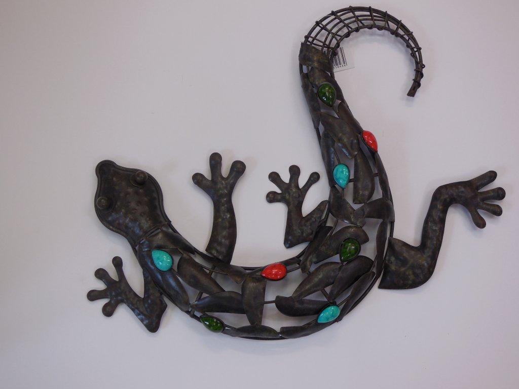 Kovová ještěrka barevná