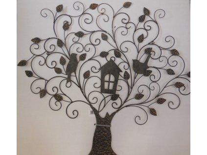 Kovový strom ptáčci,domek