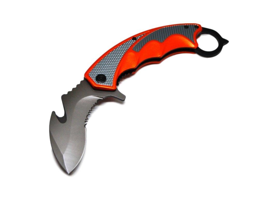 Nůž karambit sklápěcí, orange