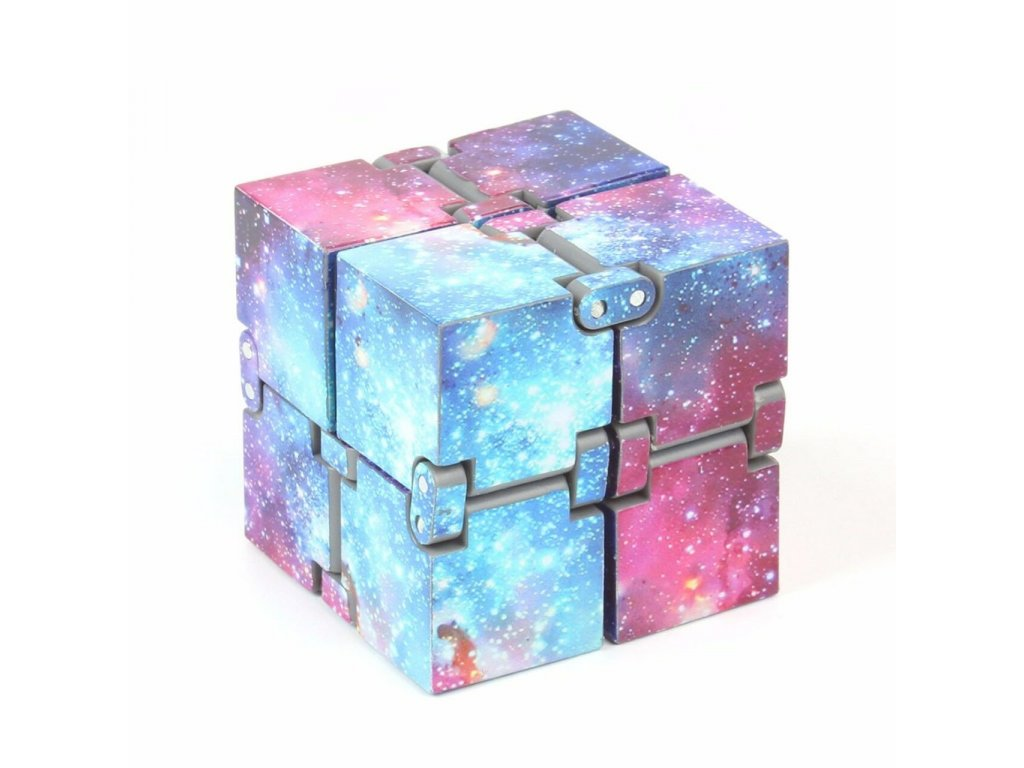 Infinity Cube Prime Fidget Finger Toy Galaxy Pressure Reduction 4x4x4cm Hand Killing Time for Kids Adults 51341.1567584360