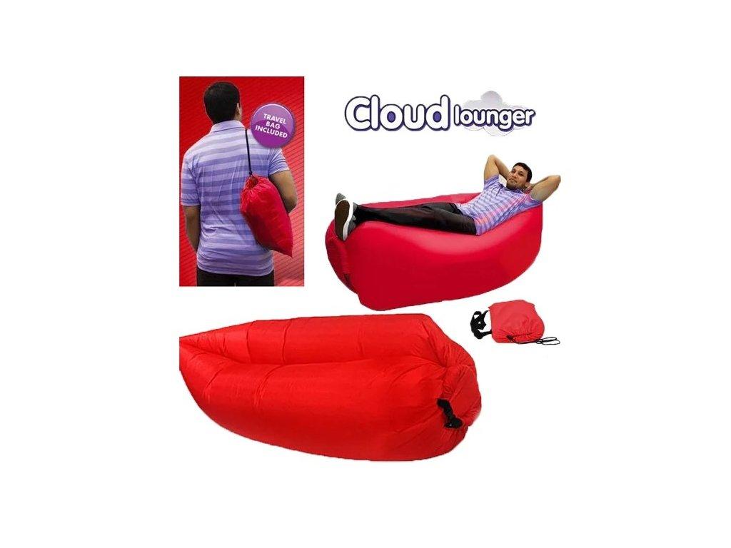 Samonafukovací vak Lazy Bag červený