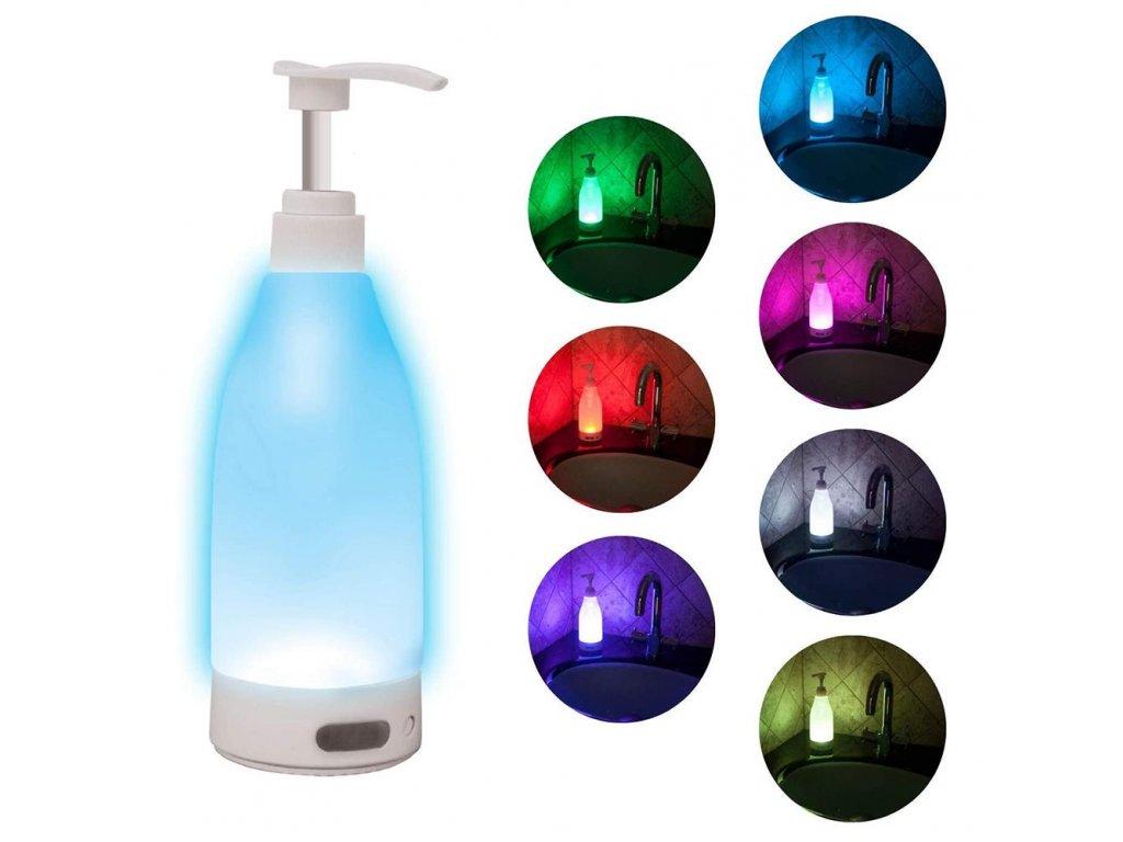 mainimage0Induction Soap Brite Led Glowing Liquid Facial Cleanser Shower Sanitizer Gel Bottle Dispenser Sensor Soap Dispenser