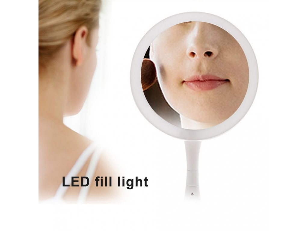 mainimage3Portable Folding Makeup Mirror 1x 10x Magnifying Double Side Dimmable 21 LED