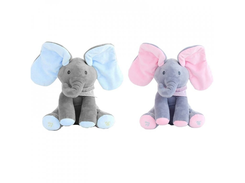 mainimage230cm Plush elephant talking electric toy hide and seek elephant doll electric toy suitable for soothing