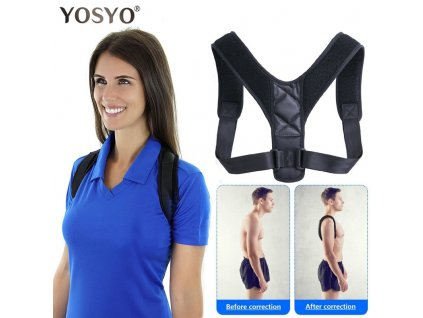 mainimage0YOSYO Brace Support Belt Adjustable Back Posture Corrector Clavicle Spine Back Shoulder Lumbar Posture Correction