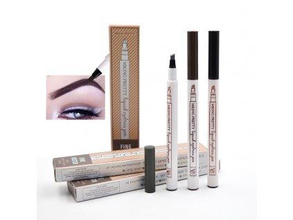 mainimage012Pcs Lot Eyebrow Pencil Microblading Fork Tip Fine Sketch Tattoo Pen Waterproof Eyebrow Makeup Tint Liquid