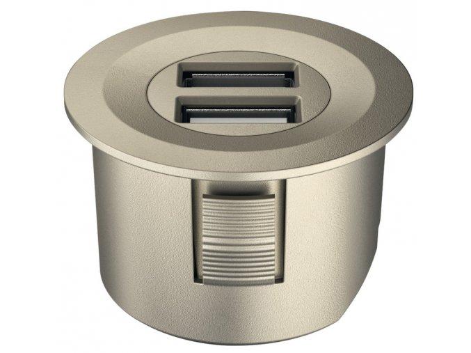 Dobíjecí jednotka Loox USB, zápustná montáž, 12V/NIKL