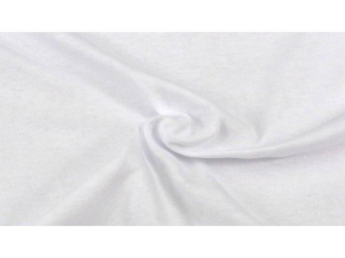 Napínací Jersey prostěradlo bílé #01