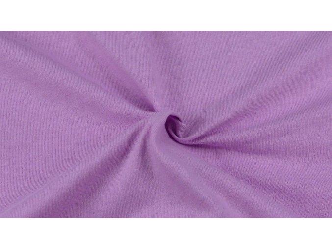 Napínací Jersey prostěradlo světle fialové 019 #01