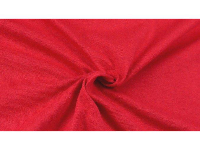 Napínací Jersey prostěradlo červené 014 #01