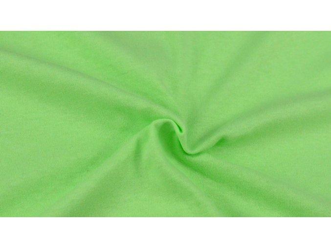 Napínací Jersey prostěradlo světle zelené 032 #01