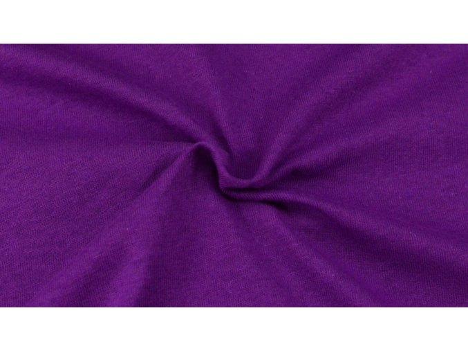 Napínací Jersey prostěradlo tmavě fialové 022 #01