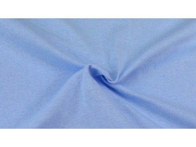 Napínací Jersey prostěradlo světle modré 024 #01