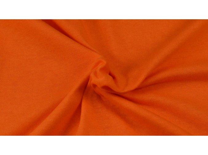 Napínací Jersey prostěradlo oranžové 202 #01
