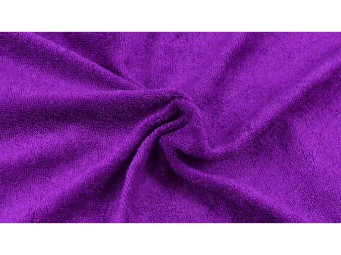 Napínací froté prostěradlo tmavě fialové 022 #01
