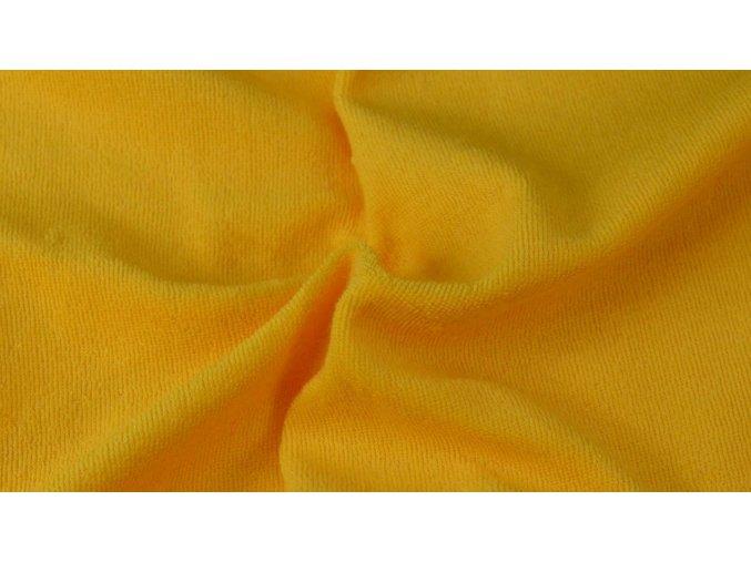 Napínací froté prostěradlo sytě žluté 005 #01