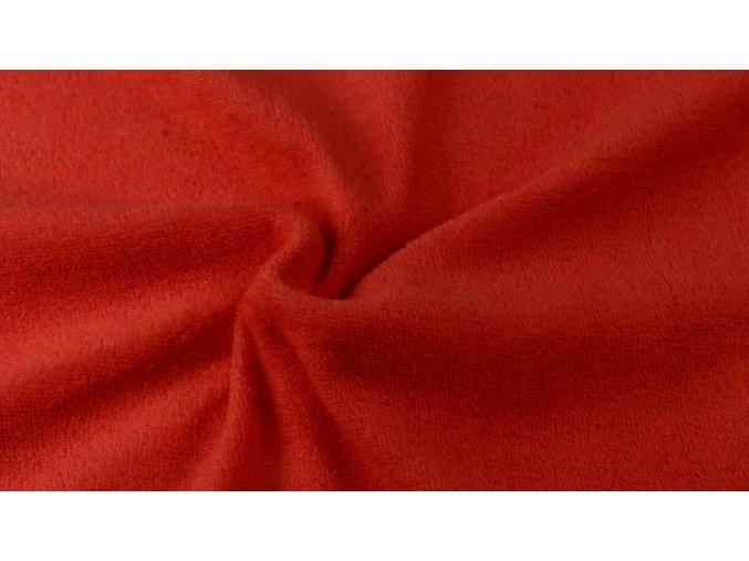 Napínací froté prostěradlo červené 014 #01