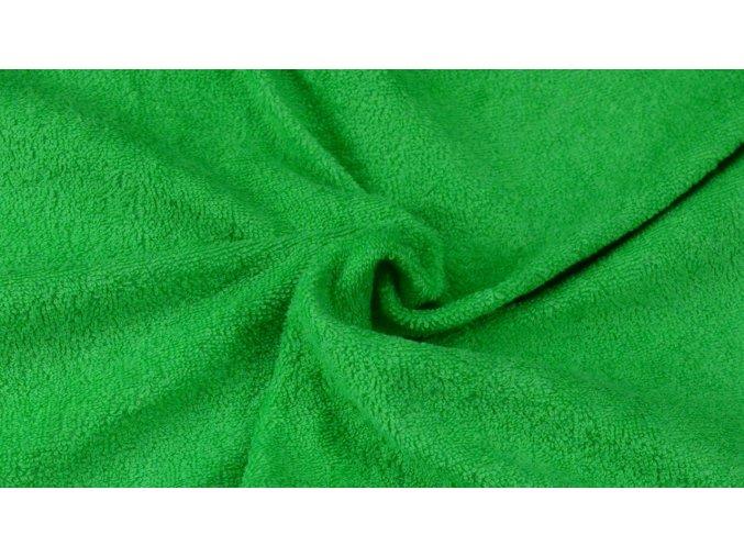 Napínací froté prostěradlo zelené 040 #01