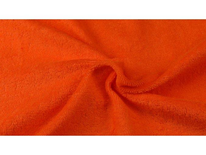 Napínací froté prostěradlo oranžové 049 #01