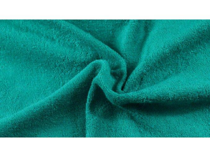 Napínací froté prostěradlo tmavě zelené 036 #01