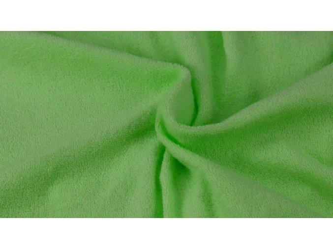 Napínací froté prostěradlo sytě zelené 052 #01
